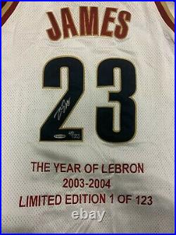 03-04 Lebron James Rookie Signed Jersey 49/123 The Year of Lebron withUDA Auto