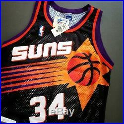 100% Authentic Charles Barkley Vintage Champion Suns Signed Jersey JSA COA