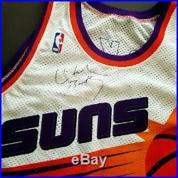 100% Authentic Charles Barkley Vintage Champion Suns Signed Jersey JSA LOA