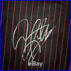 100% Authentic Dennis Rodman Champion 96 97 Bulls Signed Pro Cut Jersey jordan