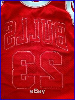 100% Authentic Michael Jordan Signed Champion Bulls 92 93 Pro Cut Game Jersey