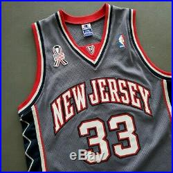 100% Authentic Stephon Marbury Vintage Champion Nets Signed Jersey Size 44 L