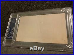 1949 TY COBB BOLD Autograph Signed Index Card PSA DNA Authenticated