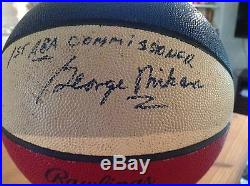 1967-69 ABA Mikan Game-Used/Personally Owned Basketball Signed by Mikan Psa/Dna