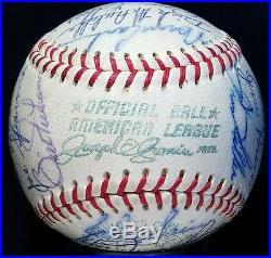 1968 World Series Champion Detroit Tigers Team Signed BASEBALL hof vtg rare OAL