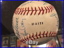 1969 Pittsburgh Pirates Team Signed Baseball Roberto Clemente 22 Autos Jsa Auth
