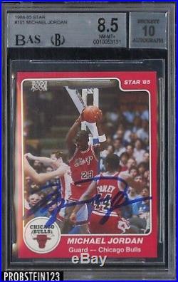 1984-85 Star #101 Michael Jordan RC Rookie HOF Signed AUTO BGS 8.5 BAS UDA COA