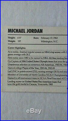 1985 Nike Promo Michael Jordan RC Auto Autograph Rookie Card Signed withCOA