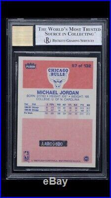 1986 Fleer #57 06-07 Buyback Michael Jordan RC HOF Signed AUTO 20/23 BGS 8.5 UDA