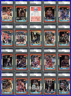 1986 Fleer Basketball Signed Complete Set 143 Autographed Cards! PSA/DNA