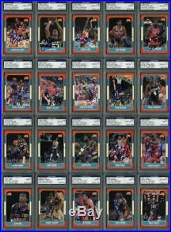 1986 Fleer Basketball Signed Complete Set -144 Cards All Graded 9 Or 10! PSA/DNA