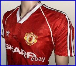 1988/89 Adidas Manchester United Match Worn Signed Home Shirt #6