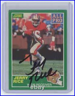 1989 Score Football #292 All-Pro Jerry Rice 49Ers Signed Autographed