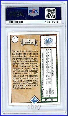 1989 Upper Deck Ken Griffey Jr. ROOKIE RC, PSA/DNA 10 AUTO #1 PSA Auth Signed