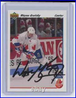 1991-92 Upper Deck Wayne Gretzky #13 Canada Signed Autographed