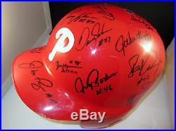 1993 Philadelphia Phillies Team Signed Autographed Batting Helmet +COA RARE