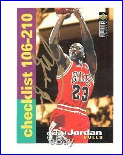 1994-95! MICHAEL JORDAN #210 Auto Signed VERY RARE 1/1 CHECKLIST! With COA