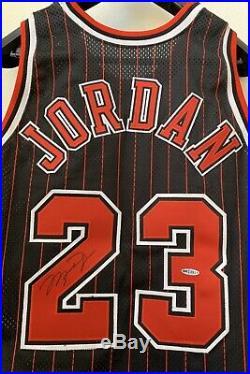 1996-97 Nba@50 Michael Jordan Bulls Pro Cut Pinstripe Jersey Signed Uda Auto Pe