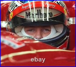1996 Michael Schumacher Signed Test Used Ferrari Bell Feuling F1 Helmet