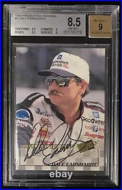 1998 Press Pass DALE EARNHARDT Sr #3 BGS 8.5 9 Auto Autograph Signings NASCAR
