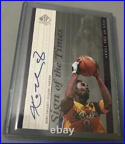1999-00 Sp Authentic Sign Of Times Sott Kobe Bryant 8 Autograph Auto Exquisite