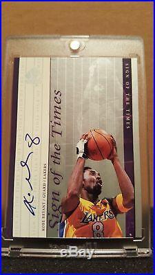 52f5a2345040 1999-00 Sp Authentic Sign Of Times Sott Kobe Bryant  8 Autograph Auto  Exquisite