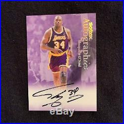 1999 Fleer Skybox Autographics SHAQUILLE O'NEAL Signed Lakers 34 MINT