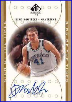 2000-01 SP Authentic DIRK NOWITZKI Sign of the Times Auto Card HOF