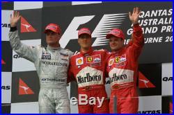 2001 Michael Schumacher race used visor signed Australian GP