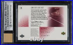 2001 SP Authentic Sign Of The Times Red Tiger Woods ROOKIE RC AUTO /273 BGS 8.5