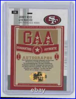 2005 Jerry Rice Certified Materials #139 49ers Signed Autographed