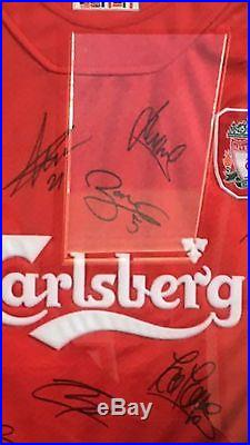 2005 Liverpool Champions League Winners Signed Football Shirt / 25 Signatures