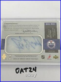 2006-07 Sweet Shot Wayne Gretzky Signature Shots Ice Signings Auto 11/100 RARE