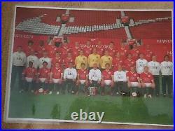 2006 2007 Manchester United Football Signed by 12 Ole Vidic Rio COA Man Utd Ball