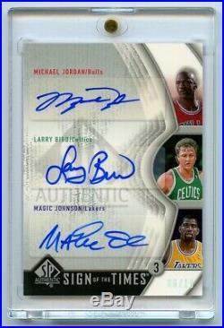 2006 Sp Authentic Sign Of The Times Auto Michael Jordan Larry Bird Magic Johnson