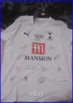 2008 league cup winning signed Tottenham shirt