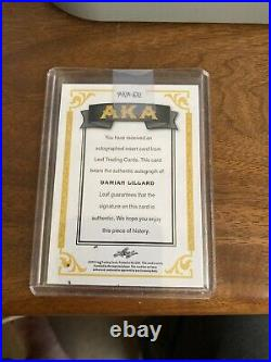 2012-13 Leaf Great Dame #AKA-DL1 Damian Lillard Auto Rookie 1st Signed Card RARE