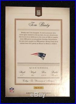 2012 Prime Proof Signatures Tom Brady Auto Signed #40/99 Patriots Goat Rare