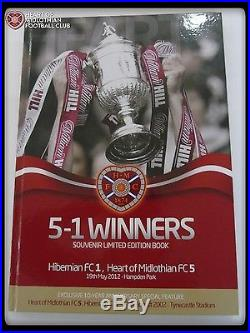2012 Scottish Cup Final Souvenir Book Signed By All Hearts Goal Scorers