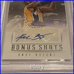 2013-14 Panini Prestige Bonus Shots Kobe Bryant Autograph BGS 9 / 10 auto SIGNED