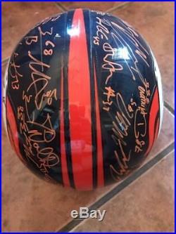 2013 Denver Broncos Team Signed Full Size Riddell Helmet Peyton Manning Jsa/loa