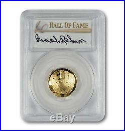 2014-W $5 Gold Baseball Coin PCGS PR70 Hand-Signed By Brooks Robinson