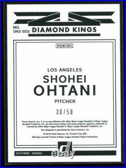 2018 Donruss Private Signings so2 Shohei Ohtani Rookie Auto 30/50 Diamond Kings