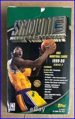 2 BOX LOT 1998/99 Topps Stadium Club NBA Basketball JUMBO Hobby Box Co-Sign Auto