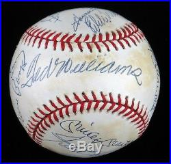 500 HR Signed Baseball With11 Mickey Mantle Ted Williams Willie Mays JSA COA