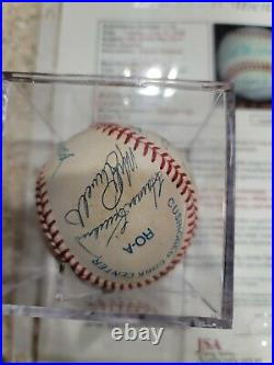 500 Home Run Club Auto Signed AL Ball Mantle Williams Mays Aaron Banks JSA LOA