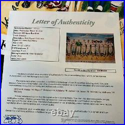 500 Home Run Club Signed Lithograph Mickey Mantle Willie Mays Hank Aaron JSA COA