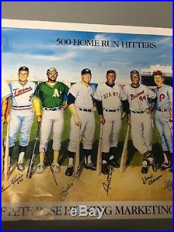 500 Home Run Signed Ron Lewis with11 Mickey Mantle Ted Williams Willie Mays PSA