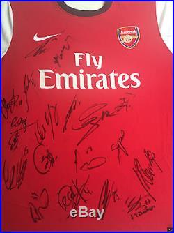 Arsenal Signed Football Shirt+photo Proofsee Santi Carzola Hold This Shirt