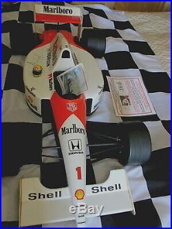 AYRTON SENNA 80cm(2ft8) MARLBORO McLAREN MODEL -SIGNED BRASIL'91